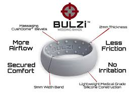 mens silicone wedding band bulzi massaging comfort fit silicone wedding ring 1 most
