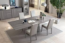 contemporary dining table and chairs marino modern fixed extending dining table in grey oak effect finish