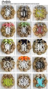 best 25 burlap initial wreath ideas on pinterest front door