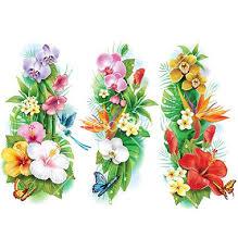 Flower And Bird Tattoo - best 25 tropical flower tattoos ideas on pinterest tropical
