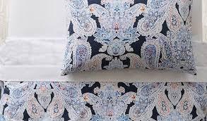 retro paisley duvet cover pillowcases pbteen intended for modern