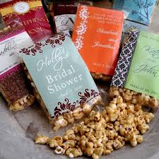 popcorn favors custom caramel popcorn wedding favors gracious bridal design house