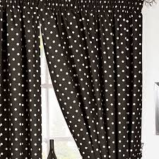 Polka Dot Curtains Black And White Polka Dot Curtains Home Design Ideas And Pictures