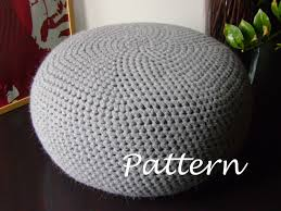 crochet pattern diy tutorial xl large crochet pouf poof