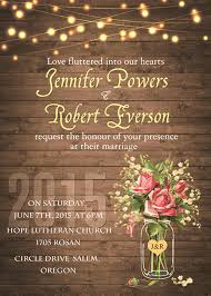 jar wedding invitations flower jar string lights rustic invitations iwi348 wedding