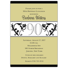 brunch invitation sle vine chartreuse 90th birthday invitations paperstyle