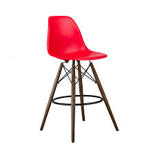 shop bar stool set of 2 red eames style dsw 26 inch counter stool with dark