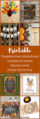 thanksgiving invitations printable thanksgiving invitations planner stickers decorations