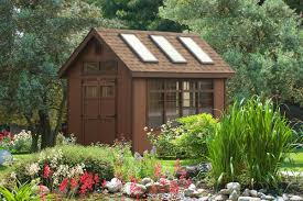 beautiful backyard garden potting sheds from the amish sheds