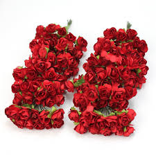 paper roses 144pc chic mini artificial paper flower wedding