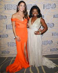 aly raisman and simone biles featured in si swimsuit 2017
