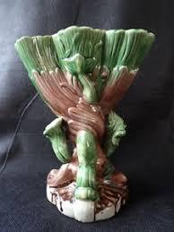 Dolphin Vase Collectors Art Deco Style Vintage Green Dolphin Vase Ornament
