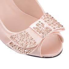 wedding shoes kitten heel uk womens peep toe kitten heel shoes bridal wedding party prom