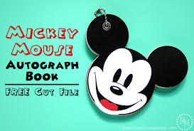 mickey mouse autograph book free cut file scrap shoppe