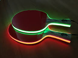 this glowing table tennis paddles are called