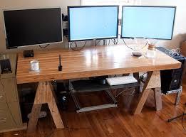 best corner desk for 3 monitors contemporary large computer desks with desk for 3 monitors home