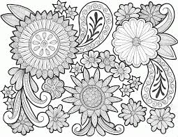 13 pics of paisley coloring pages easy paisley flower coloring