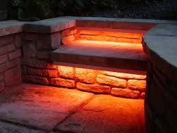 Solar Exterior Light Fixtures by Solar Led Outdoor Stair Lights In Red For Garden Stairs Artenzo