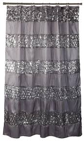 Grey And White Striped Shower Curtain Vertical Stripe Shower Curtain Home Decoration Ideas