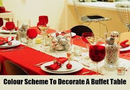 how to decorate a buffet table for christmas ways to decorate a