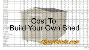 Home Building Plans And Costs Cost To Build Your Own Shed Youtube