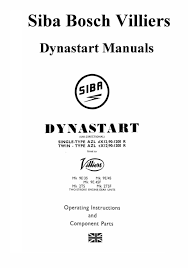 siba dynastart manuals for mechanics