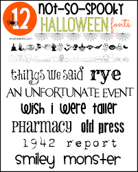 not so spooky halloween fonts