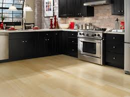 Kitchen Floor Ideas With Dark Cabinets Dark Cabinets Wood Floor Great Home Design