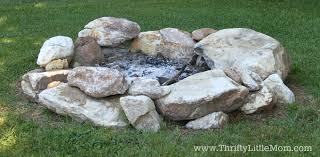 Building A Firepit In Your Backyard Build Your Own Backyard Pit Using Free Materials Thrifty