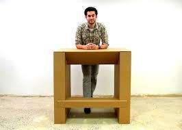 How To Make A Cardboard Desk Cheap Standing Desk Kbdphoto