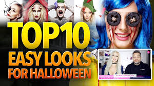 Easy Halloween Makeup Tutorials by Top 10 Easy Halloween Costume Ideas Youtube