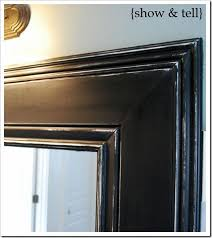 Wood Framed Bathroom Mirrors by Best 10 Bathroom Mirror Redo Ideas On Pinterest Redo Mirror