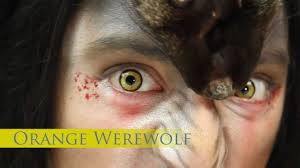 prescription contact lenses halloween orange werewolf coloured contact lenses youtube