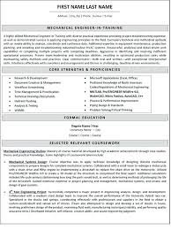 mechanical engineer sample resume sales engineer project manager