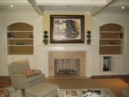 top entertainment center over fireplace decorating idea