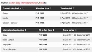 airasia singapore promo airasia philippines promos cebu for april to september 2017 travel