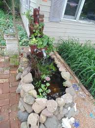 updated pics horse trough container gold fish pond fountain