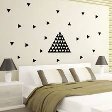 painting geometric wall decals inspiration home designs vinyl geometric wall decals
