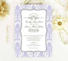 Lavender Wedding Invitations Purple Wedding Invitations Lemonwedding