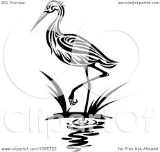 heron clipart black and white pencil and in color heron clipart