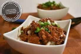 cuisine à la mijoteuse cubes de porc à la mijoteuse à l asiatique au bout de la langue