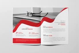 corporate bi fold brochure template free brochure design download
