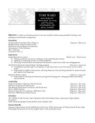 Resume Sample Journalist by Resume For Mass Communication Student Resume For Your Job