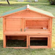 Double Decker Rabbit Hutch Pawhut Pawhut 48