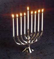 menorah candle soy candles and beeswax candles for the holidays