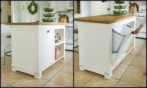 storage kitchen island build a kitchen island with trash storage diy projects for everyone