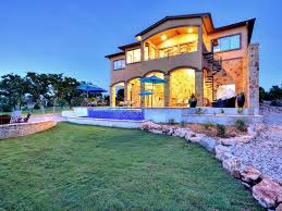 brand new lake travis waterfront dream home pool dock views
