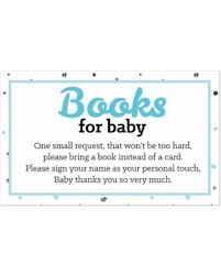 bring a book instead of a card baby shower savings on hello one blue and silver boy baby shower