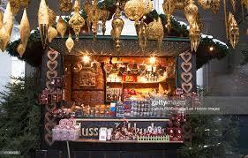 christmas decorations in christmas market salzburg austria stock