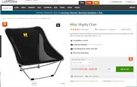 Mayfly Chair Alite Mayfly Backpacking Chair U2013 Black Only U2013 25 15 Off 63 76